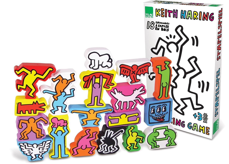 Vilac Figuras Keith Haring de apilamiento (18 Piezas): Amazon.es ...
