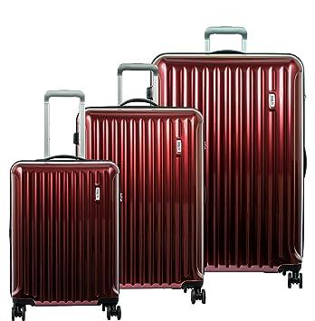 Amazon.com: Brics Riccione - Juego de 3 maletas con ruedas ...