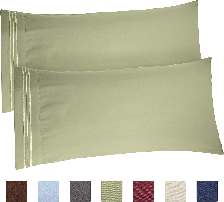 Amazon Com King Size Pillow Cases Set Of 2 Soft Premium