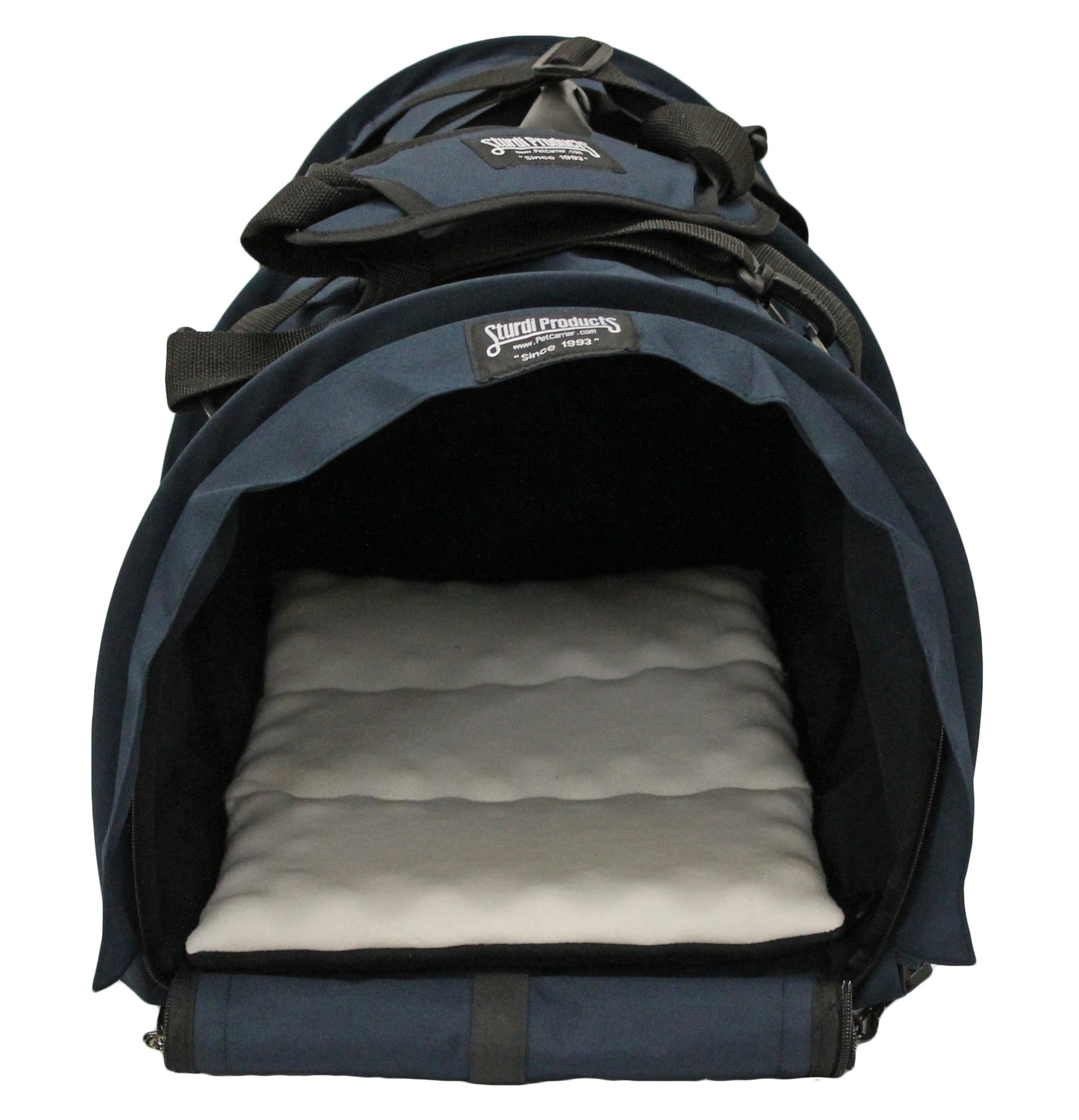 Sturdi Products Cube Pet Carrier, X-Large, Navy by Sturdi Products