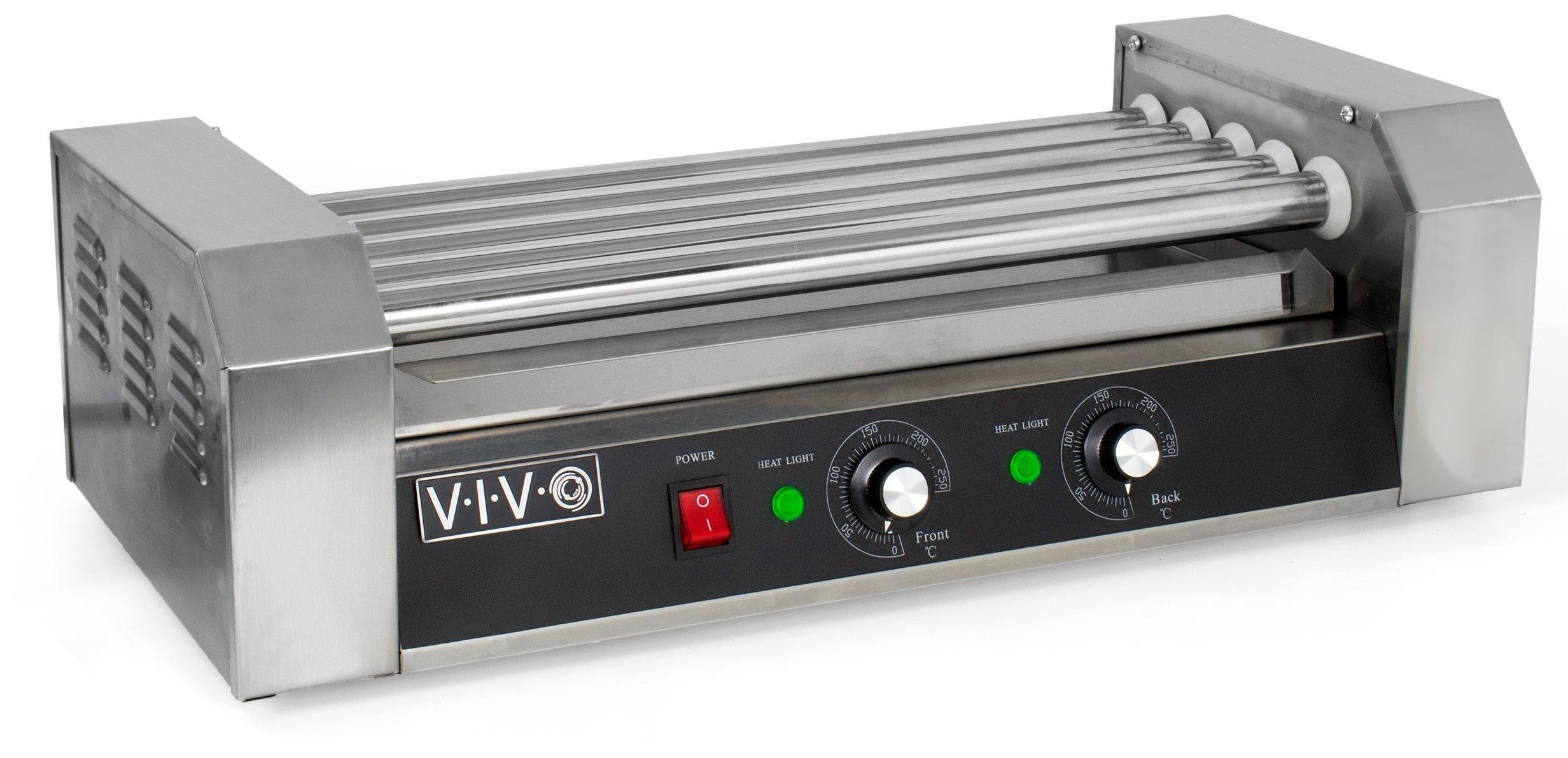 VIVO Electric 12 Hot Dog & Five (5) Roller Grill Cooker Warmer Machine (HOTDG-V005)