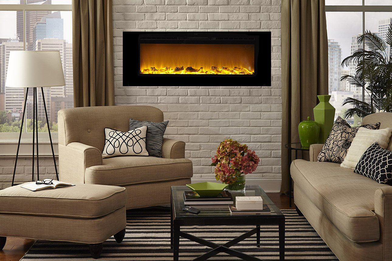 ventless in mounted p built fireplace regal ethanol flame fargo bio wall inch recessed