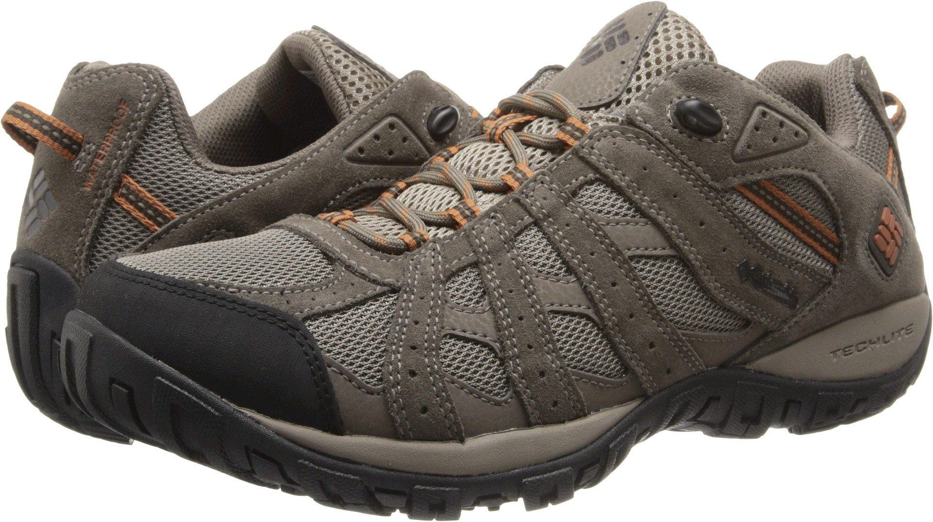 Columbia Men's Redmond¿ Waterproof Pebble/Dark Ginger 7.5 D US by Columbia (Image #1)