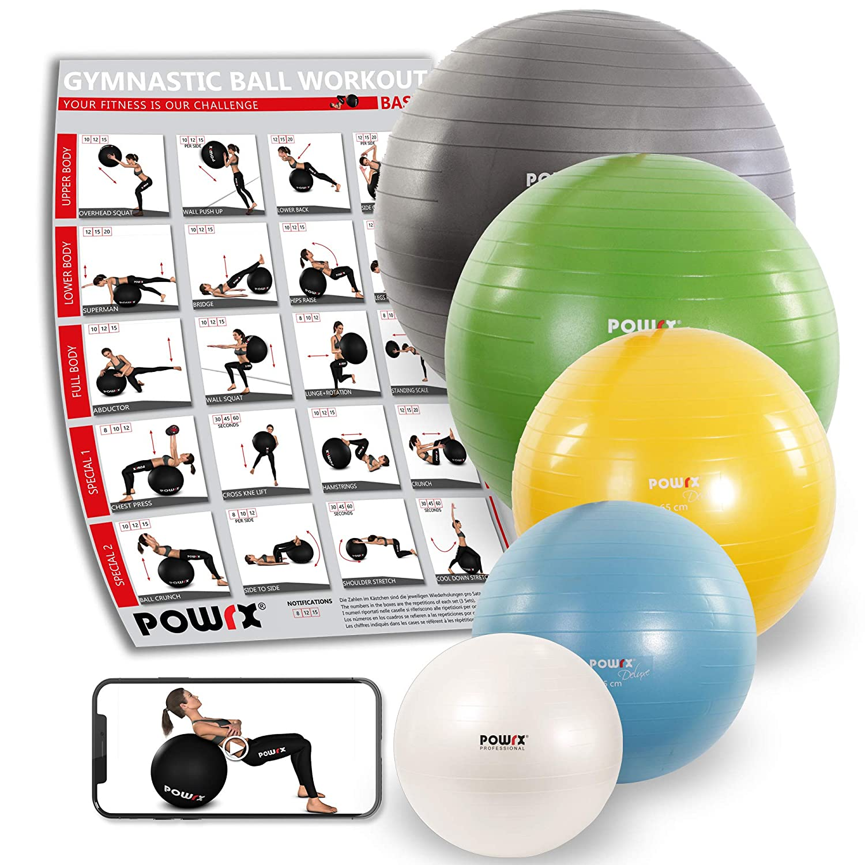 Pelota de Gimnasia Yoga Pilates 55 cm, 65 cm, 75 cm, 85 cm, 95 cm: Amazon.es: Deportes y aire libre