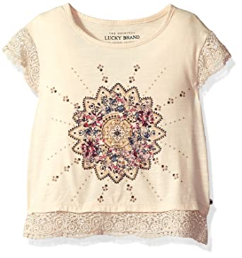 140a20cf1d32 Amazon.com  Lucky Brand Girls  Riley Laurel Canyon Tee with Criss ...