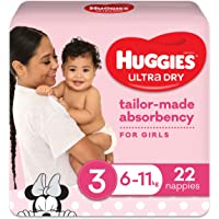 Huggies Ultra Dry Nappies Girl Size 3 (6-11kg) 22 Count