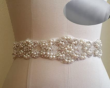 8cee03e0bd QueenDream Wedding sash Silver Rhinestone sash Bridesmaid Dress sash  Rhinestone Bridesmaid sash Peach Bridal Belt