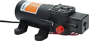 Amarine-made 12v Water Pressure Diaphragm Pump 4.3 L/min 1.1 GPM 35 PSI - Caravan/rv/Boat/Marine