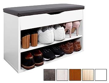 Ricoo Meuble De Rangement Pour Chaussure Wm032 W A Banc Armoire Avec