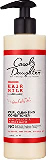 product image for Carol's Daughter Hair Milk Sulfate Free Cleansing Conditioner for Curls, Coils and Waves, with Agave and Shea Butter, Sulfate Free Co Wash, 12 fl oz