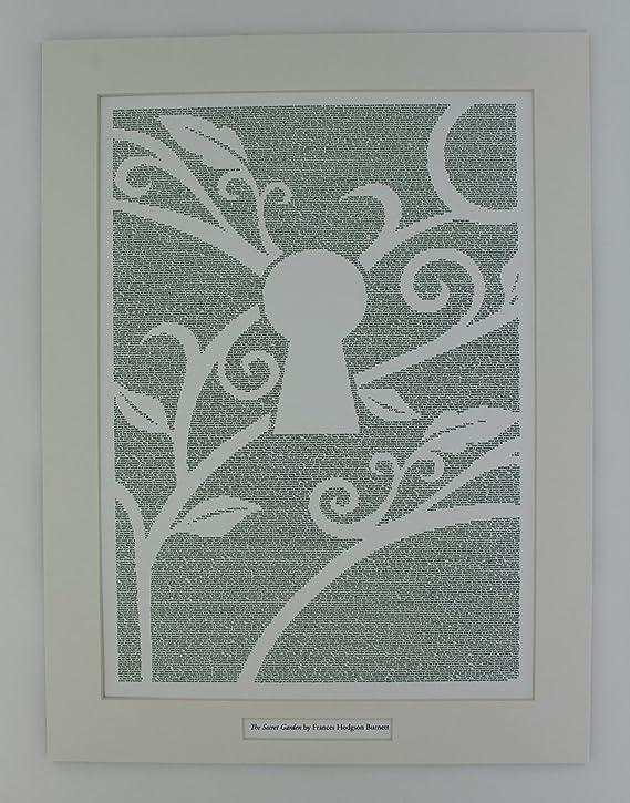 El jardín secreto de Frances Hodgson Burnett - cartel libro - cartel de texto con soporte: Amazon.es: Hogar