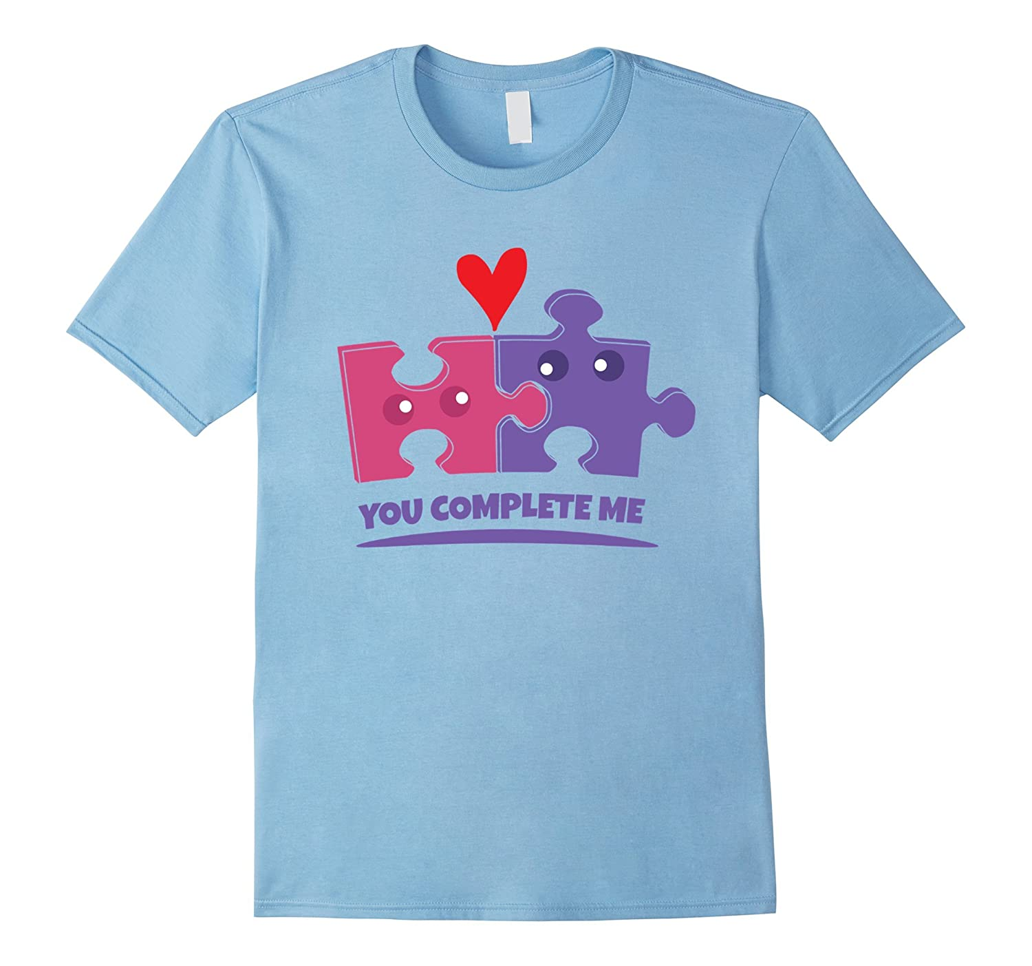 xaapje you complete me cute puzzle pieces-Art