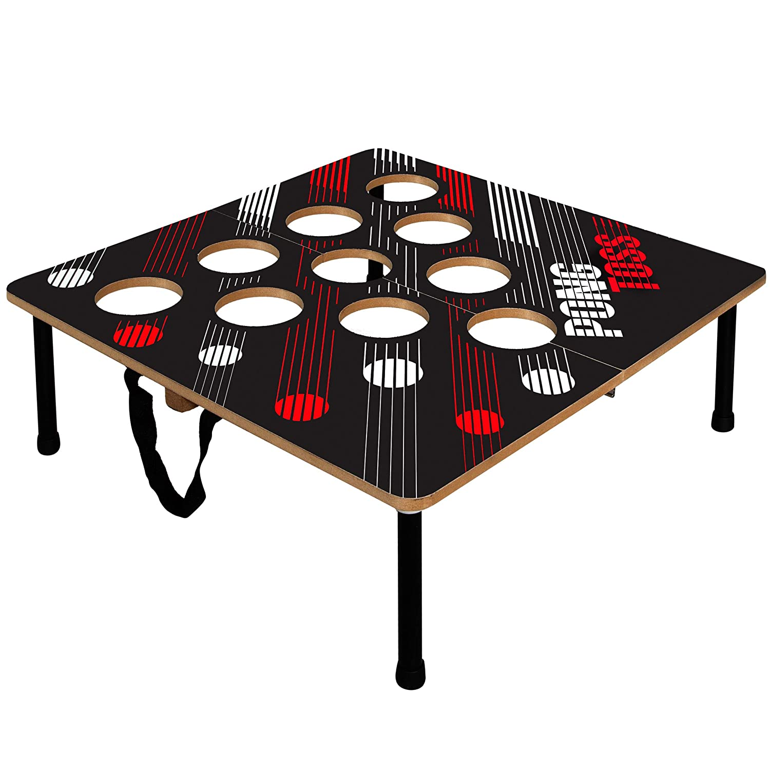 Black Series Portable Beer Pong Set with 2 Folding Tables and 6 Ping Pong  Balls, Classic Drinking Game for Adults, Best Party Games, Collapsible for