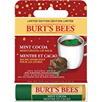 Burt's Bees 100% Natural Origin Moisturizing Lip Balm, Mint Cocoa - 1 Tube