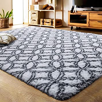 Amazon Com Lochas Luxury Velvet Shag Area Rug Mordern Indoor