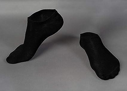 Oemen Calcetines Cortos Fantasmas 3 o 6 o 12 Pares de Algod/ón Negro y Blanco Unisex