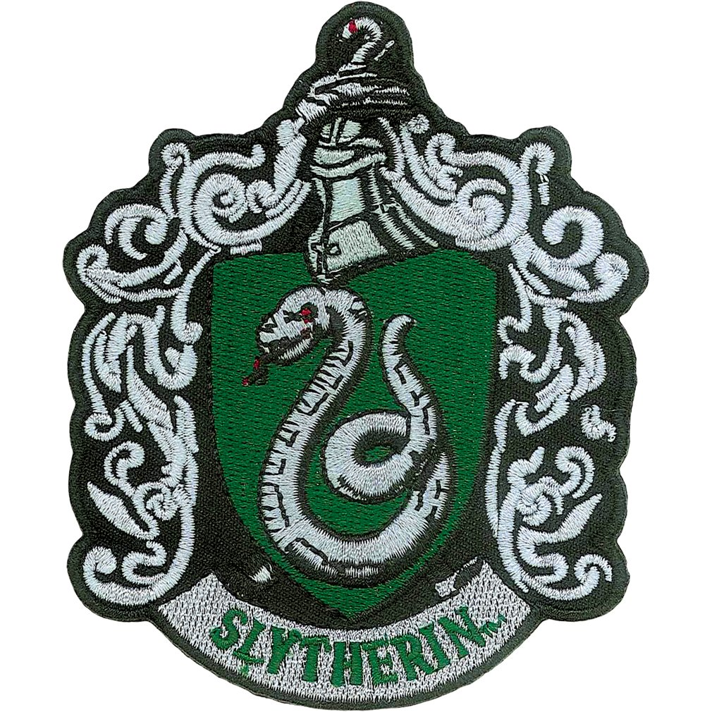 Ata-Boy Harry Potter Slytherin Crest 3 Full Color Iron-On Patch 61007HP