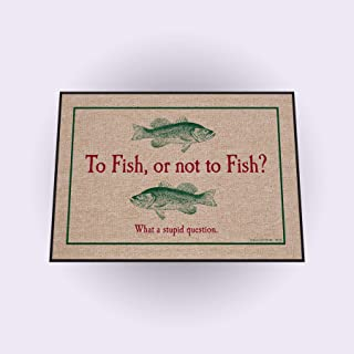 product image for HIGH COTTON To Fish or Not to Fish Indoor/Outdoor Doormat
