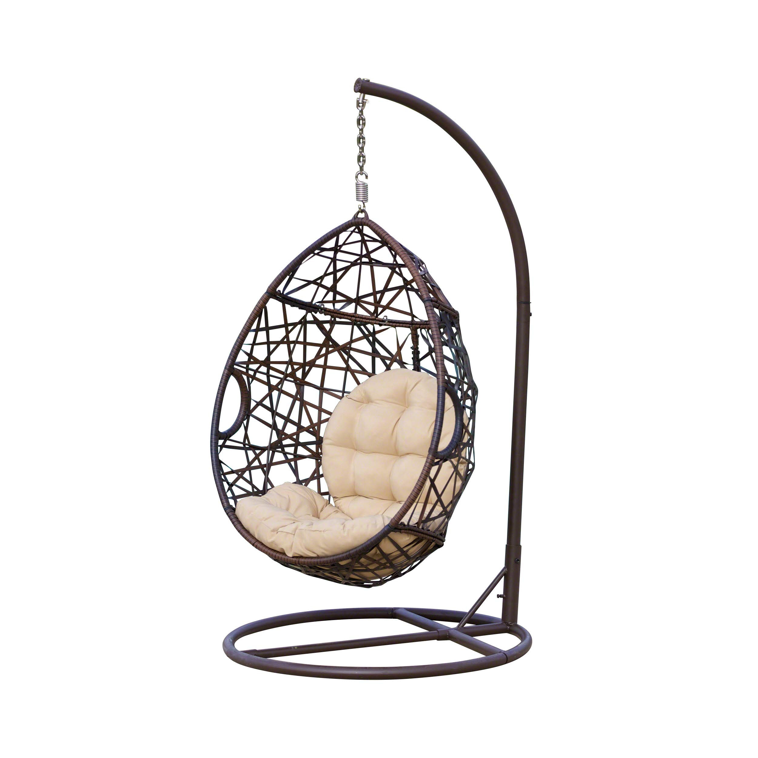 Christopher Knight Home 239197 | Outdoor Wicker Tear Drop Hanging Chair | in Brown by Christopher Knight Home