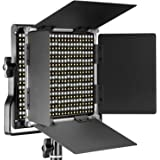 Neewer 660 LED Luce Dimmerabile Bicolore con Supporto Staffa-U e Barndoor Luce Professionale per Studio, YouTube, Foto di Prodotti e Registrazioni Video, Guscio in Metallo Durevole(Spina UE)