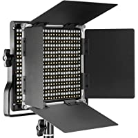 Neewer Professional Metal Bi-Color LED Video Light for Studio, YouTube, Product Photography, Video Shooting, Durable Metal Frame, Dimmable 660 Beads, with U Bracket and Barndoor, 3200-5600K, CRI 96+