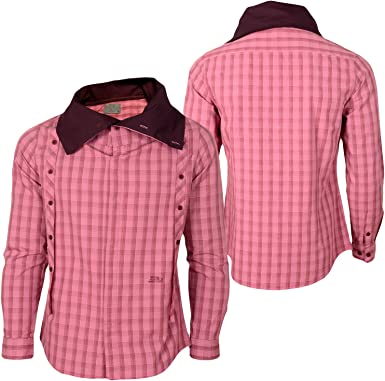NCS Jeans - Camisa Casual - para Hombre Rojo XXL: Amazon.es: Ropa y accesorios