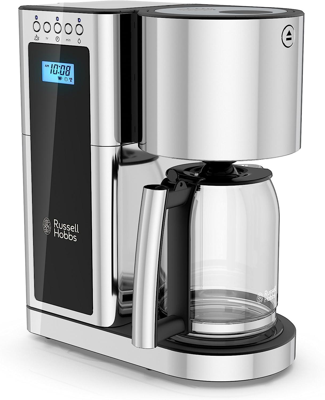 Russell Hobbs Glass Series 8-Cup Coffeemaker, Black & Stainless Steel, CM8100BKR