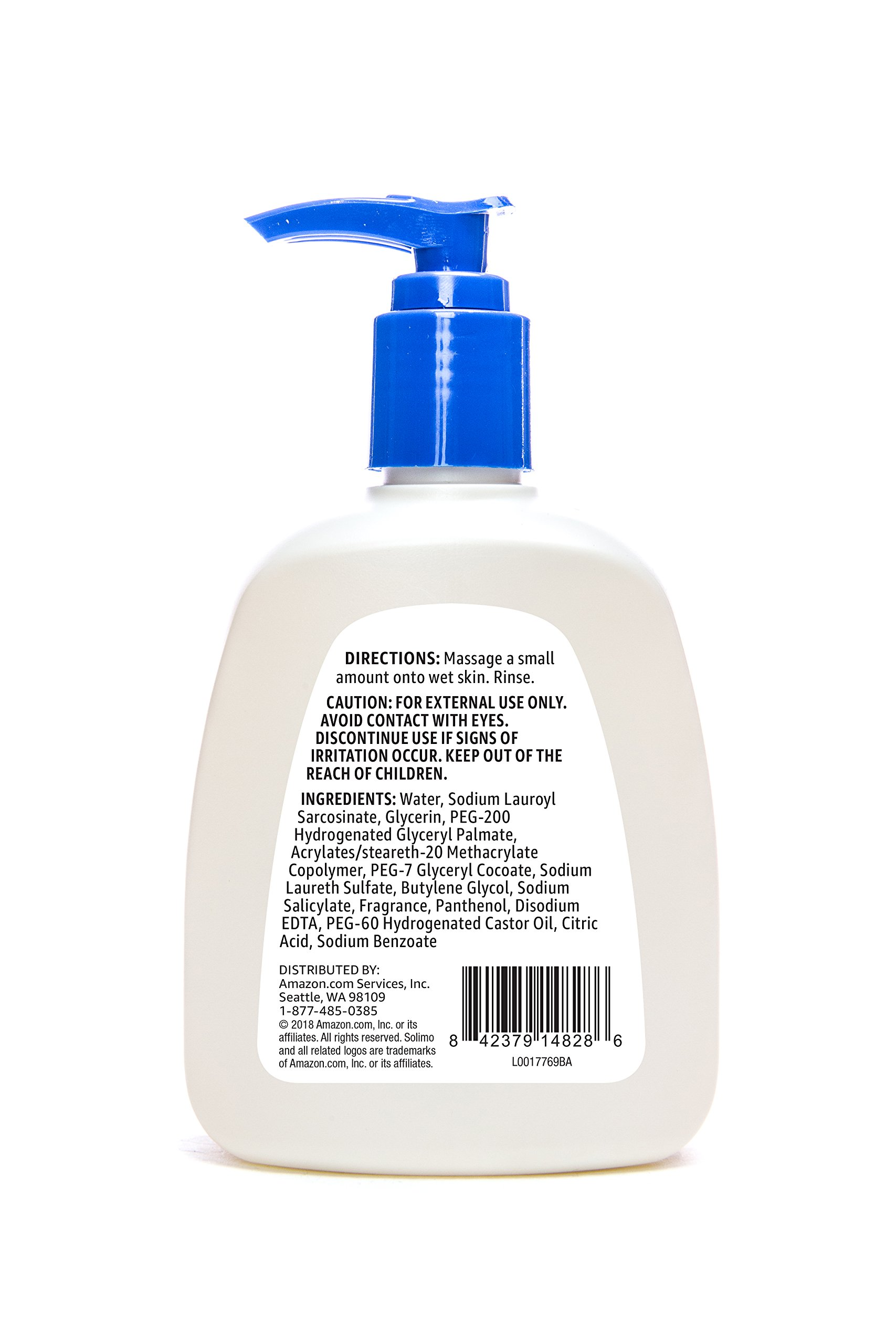Amazon Brand - Solimo Daily Facial Cleanser, Normal to Oily Skin, 8 Fluid Ounce (Pack of 6) by SOLIMO (Image #2)
