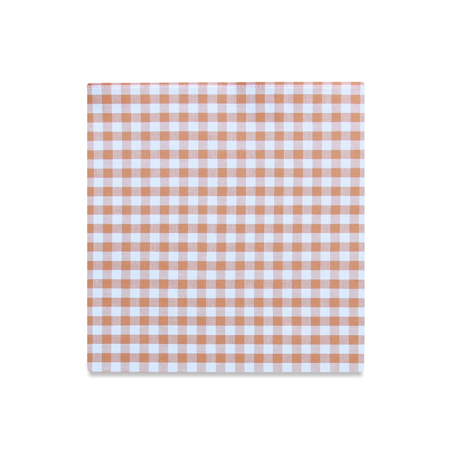 PSC Mens The Southern Gent Pocket Square 11 x 11 Peach Gingham