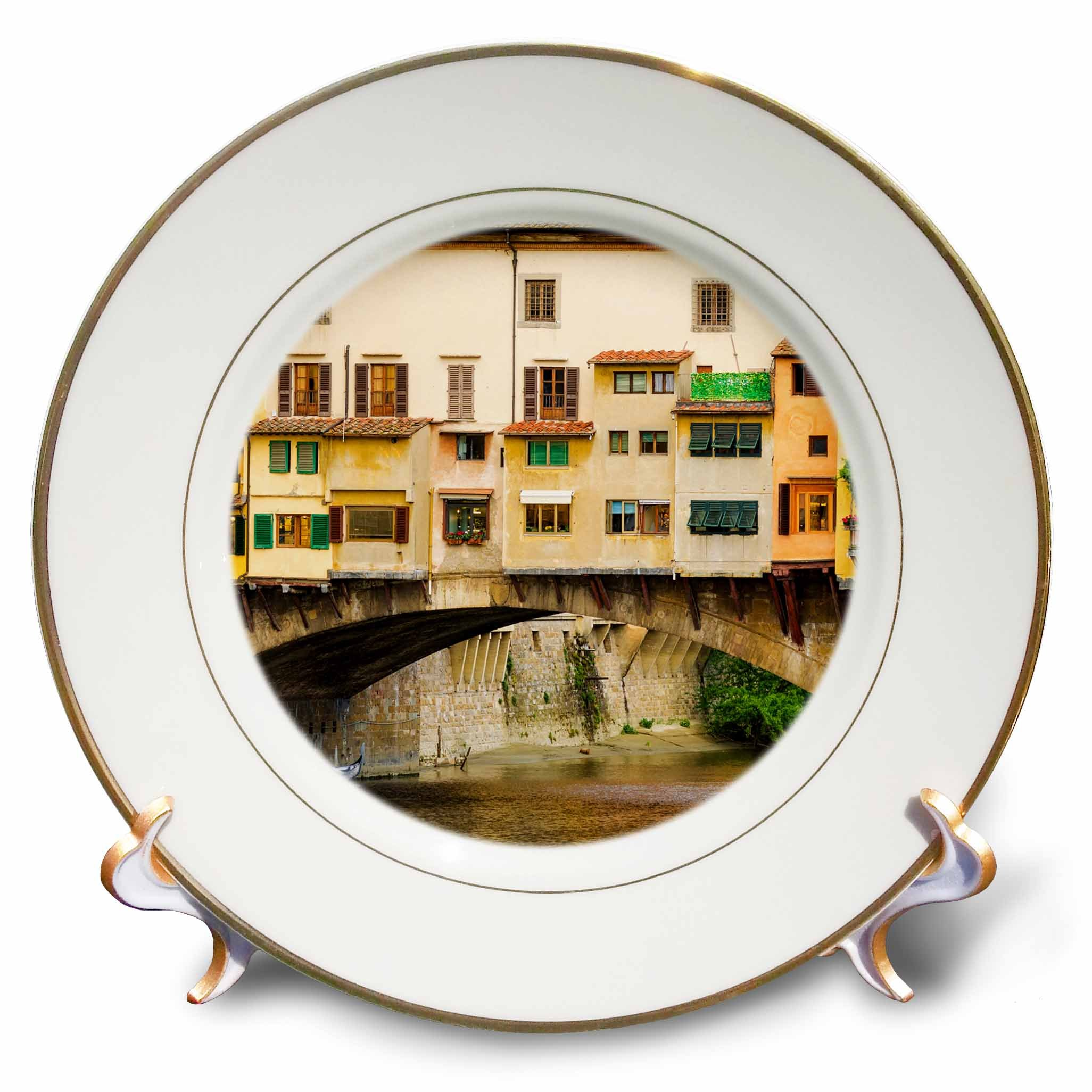 3dRose Danita Delimont - Cities - Shop windows and shutters, Ponte Vecchio, Florence, Tuscany, Italy - 8 inch Porcelain Plate (cp_277636_1) by 3dRose (Image #1)