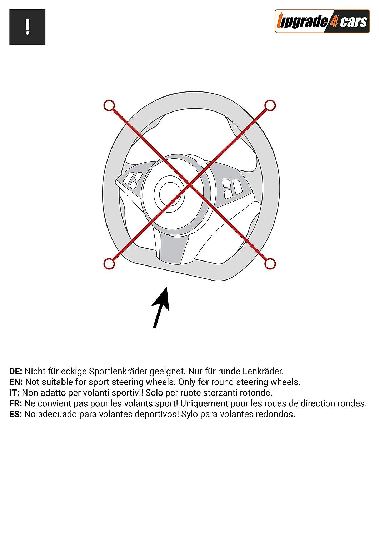 Upgrade4cars Lenkradbezug Grau Schwarz Silber N/ützliche Gadgets f/ür M/änner und Frauen 39cm Optik Tuning Auto Innenraum Zubeh/ör Lenkrad Bezug 37cm