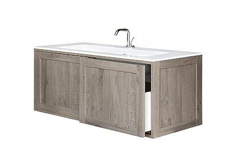 Bianchini & Capponi Mobile bagno Console con 2 cassetti e con lavabo ...