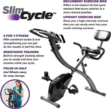 Bicicleta estática plegable, de interior, con bandas de ...
