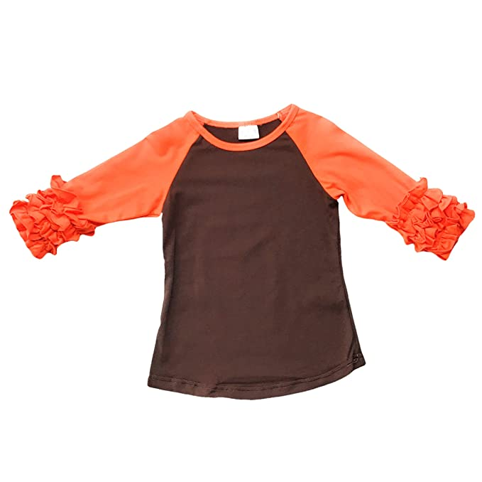 Toddler Little Girls Icing Ruffle Shirts Kids Raglan Baseball 3//4 Sleeves T-Shirt Baby Cotton Tee Top Clothes 1-8 Years