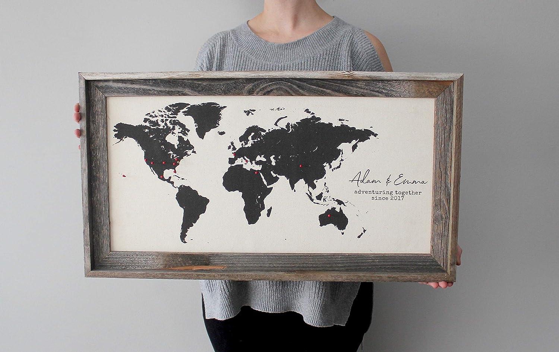 istihar Wood Personalized World Travel Map Push Pin Travel Map Wood World Map 2nd Cotton Anniversary