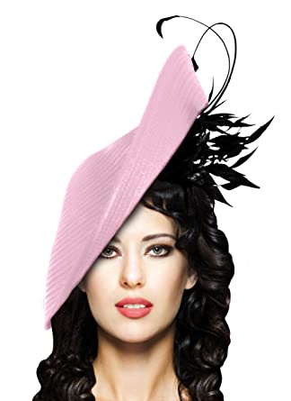 Mr. Song Millinery Kentucky Derby Oaks Stunning Profile Dish Fascinator -  L21 at Amazon Women s Clothing store  df2dbffc6a1