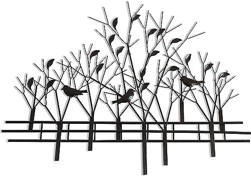 DecorShore Trees and Birds Metal Wall Art Sculpture