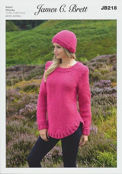 Amazon James Brett Amazon Super Chunky Knitting Pattern Ladies