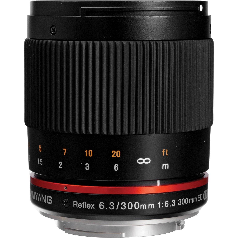 Samyang SY300M-E-BK 300mm F6.3 Mirror Lens for Sony NEX Mirrorless Interchangeable Lens Cameras - E-Mount [並行輸入品]   B019SZEOZE