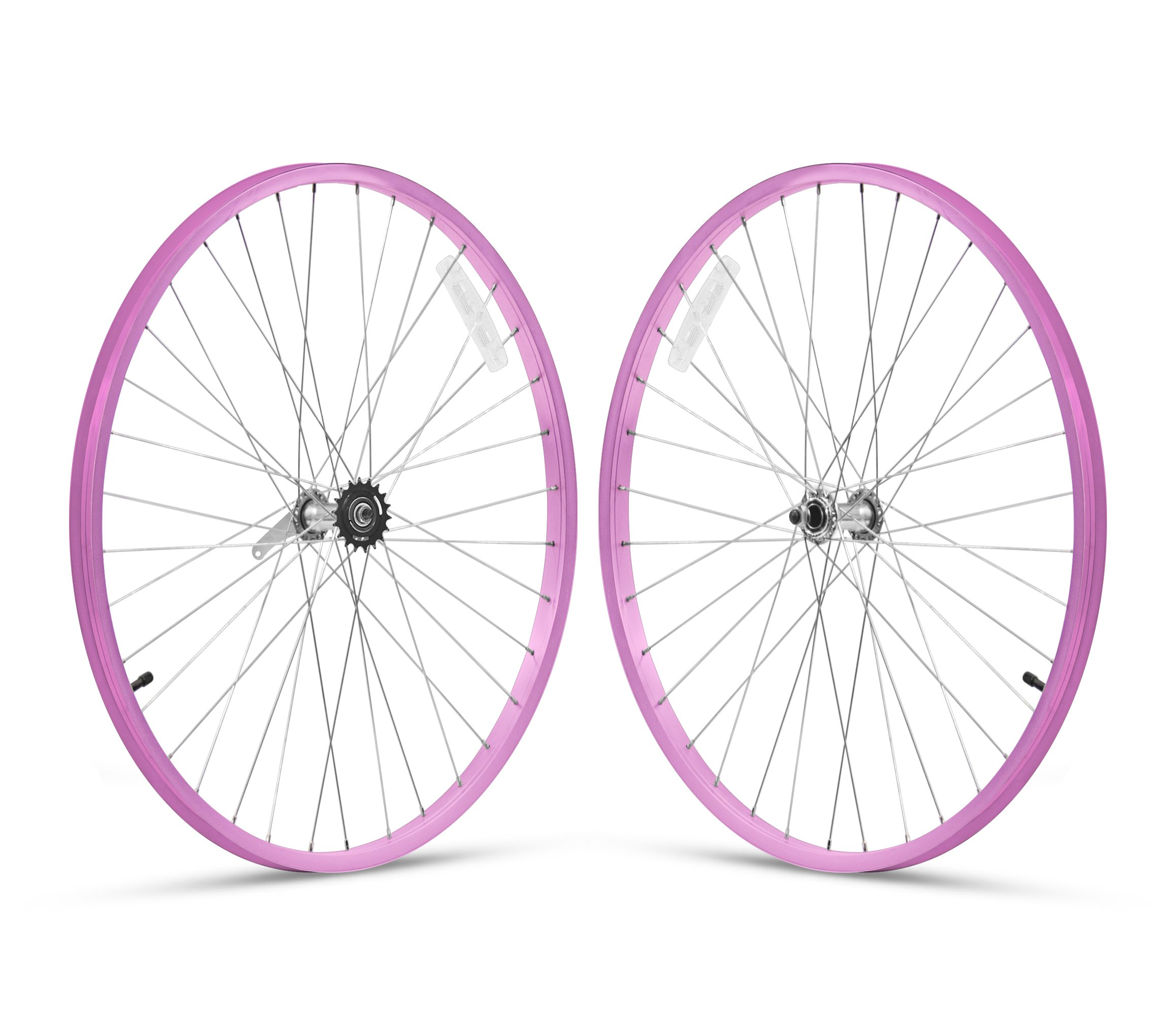 Firmstrong 1-Speed Beach Cruiser Bicycle Wheelset, Front/Rear, Pink, 26''