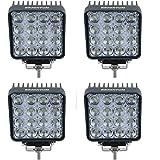 BRIGHTUM 4.3 inch 4560LM phare de travail LED 48W lampe voiture Work light Phare LED moins cher Lampe à LED Lumière (4 pièce)