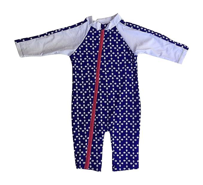 Swimzip Pelele para bebé y niña manga larga para niña bañadores con UV UPF 50 + - Azul - : Amazon.es: Ropa y accesorios