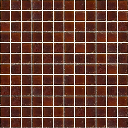 1 Inch Camel Brown Recycled Glass Tile Susan Jablon Mosaics