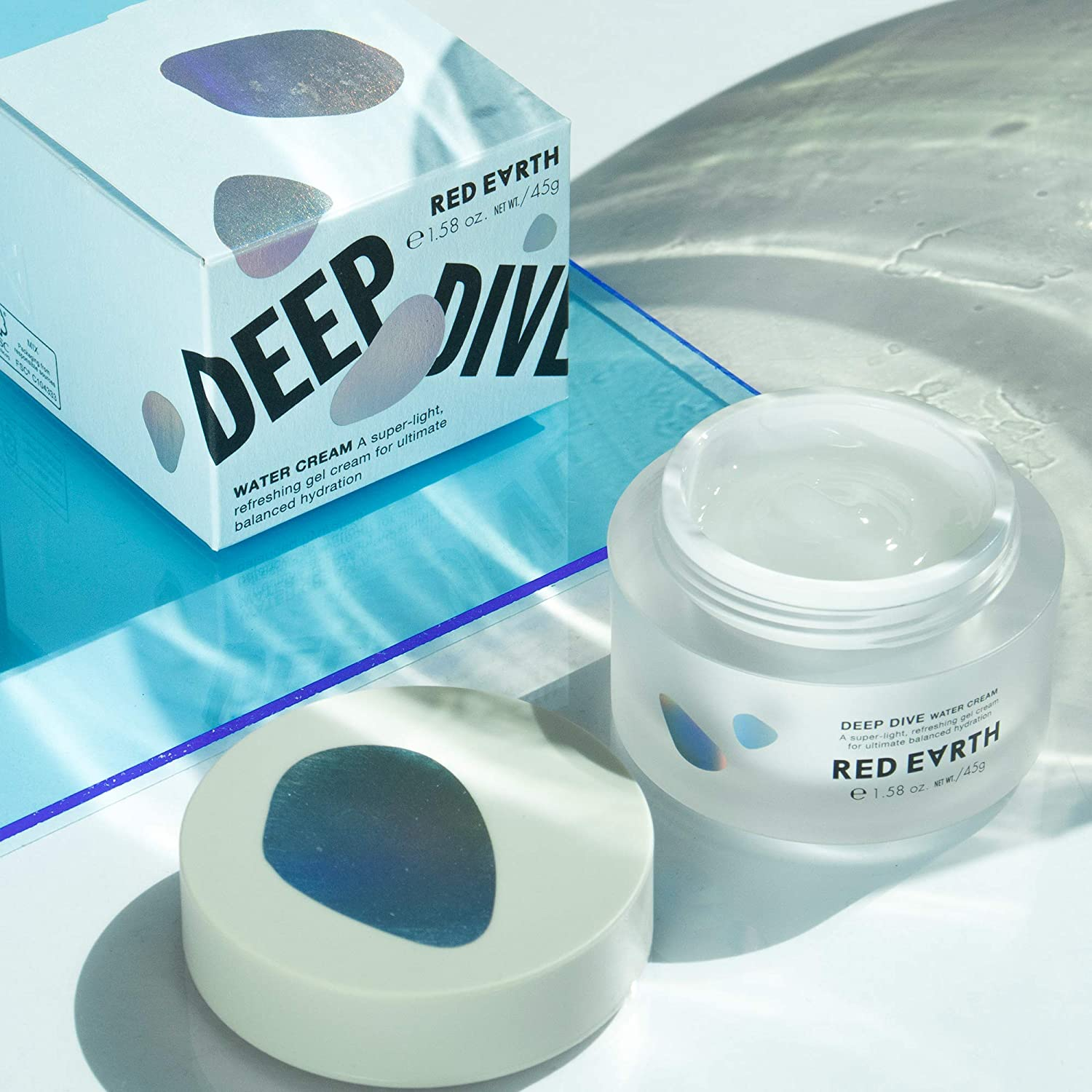Amazon.com  Red Earth DEEP DIVE Water Gel Cream For Face - Plumping And  Hydrating Moisturizing Cream - Gel Type Sleep Mask And Face Cream For Dry  Skin  ... b63e276bcc