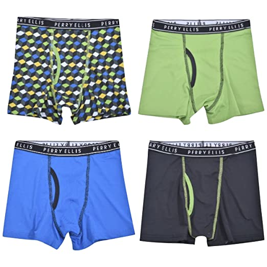 1d6ea86dcc5ba Perry Ellis Boys 4 Pack Tech Tagless Boxer Briefs