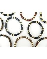Set of 3 Wooden Beaded Surfer Style Bracelets