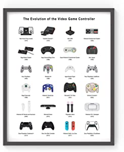 Retro Video Game Poster Gaming Wall Art Posters Print for Videogame Room Decor - Gift for Gamers, Boys, Men, Teens 11×14 UNFRAMED
