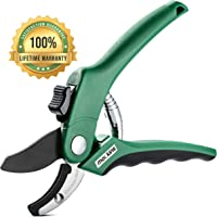 Mockins Professional Heavy Duty Garden Anvil Pruning Shears, Tree Trimmers Secateurs, Hand Pruner, Stainless Steel Blades   8 mm Cutting Capacity