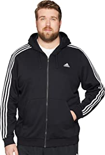 893fa456eb8 Amazon.com  adidas Men s Essentials 3-Stripe Full Zip Fleece Hoodie ...