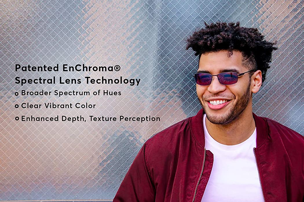 12b1c036225f EnChroma Color Blind Glasses - Canyon Gunmetal - Cx3 Sun For Deutan and  Protan Color Blindness. Back. Double-tap to zoom